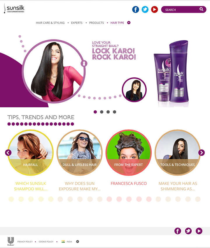 Sunsilk – Multiple localised website designs