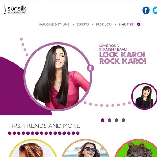 Sunsilk – Multiple localised website designs